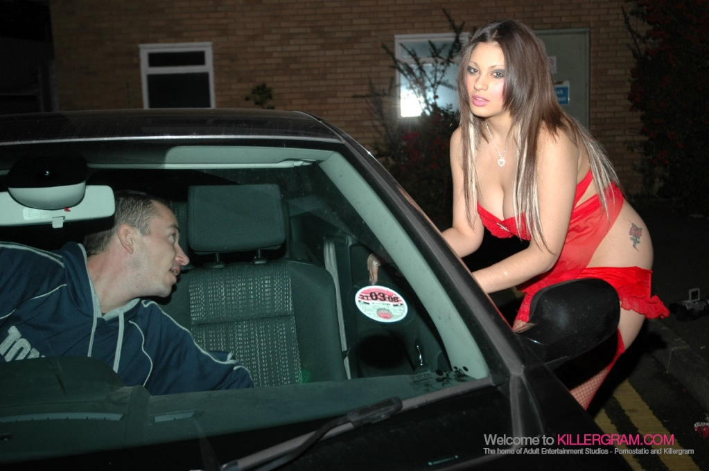 Katie Weale Flashes Her Big Tits To The Kerb Crawlers