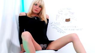 Blonde MILF Swinger In Glory Hole Hardcore